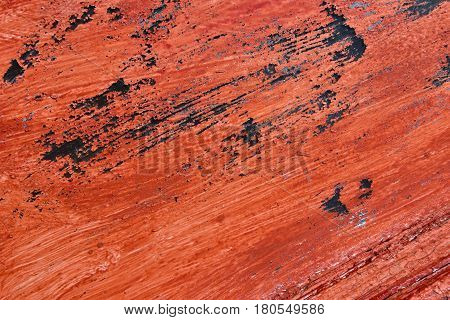 Red Painted Weathered Background