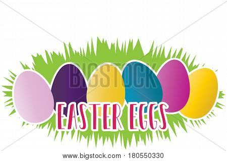 Happy Easter greeting card on the white background
