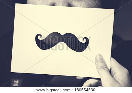 Mustache Style Hipster Man Curl