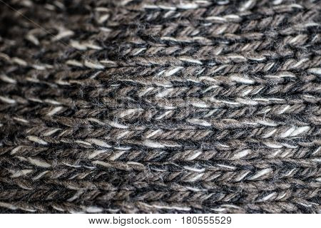 Wool macro background. grey industrial fabric close up