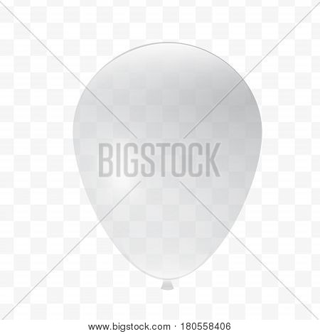 Vector baloon, transparent ball No color, black and white.