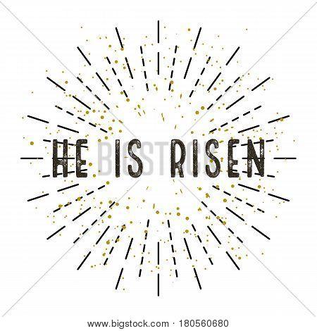 Illustration For Easter Christ Is Risen. White Background
