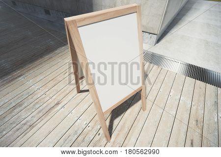 Blank White Menuboard Side