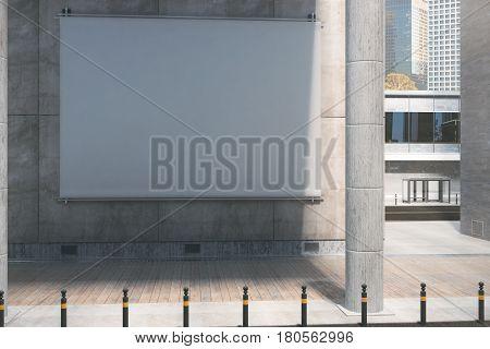 Empty White Billboard, Daytime
