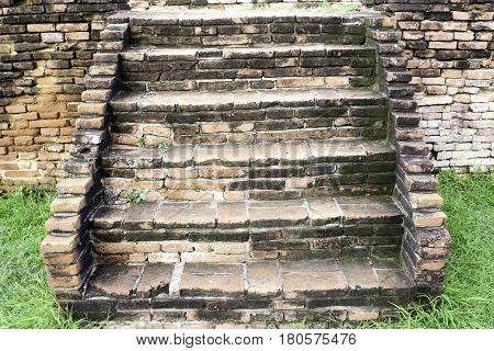 Wat Chaiwatthanaram . The relics late Ayutthaya Ayutthaya Province located in the city of Ayutthaya Ban Pom.