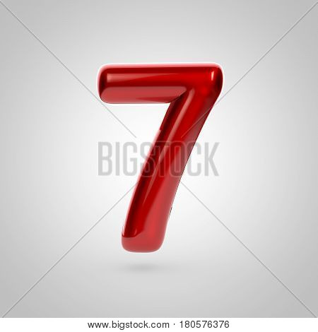 Metallic Paint Red Number 7