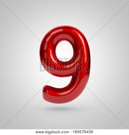 Metallic Paint Red Number 9
