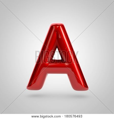 Metallic Paint Red Letter A Uppercase