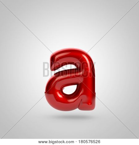 Metallic Paint Red Letter A Lowercase