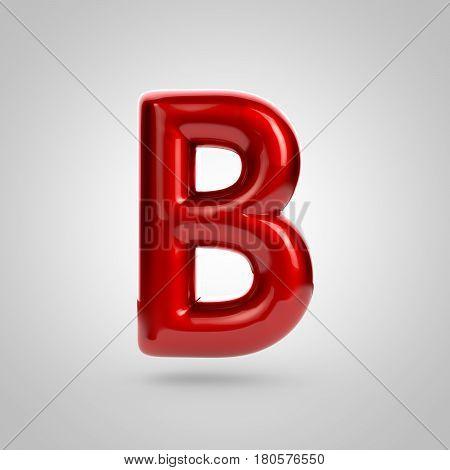 Metallic Paint Red Letter B Uppercase