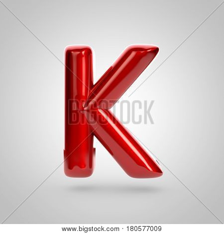 Metallic Paint Red Letter K Uppercase