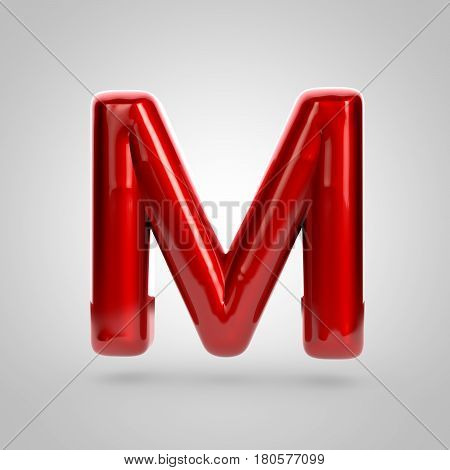 Metallic Paint Red Letter M Uppercase