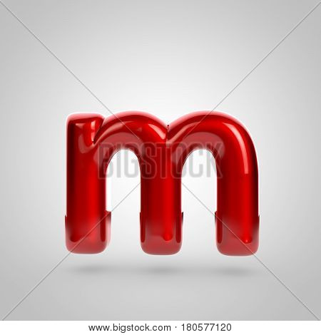 Metallic Paint Red Letter M Lowercase