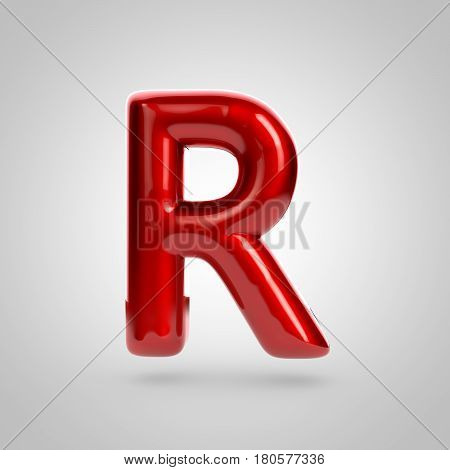 Metallic Paint Red Letter R Uppercase
