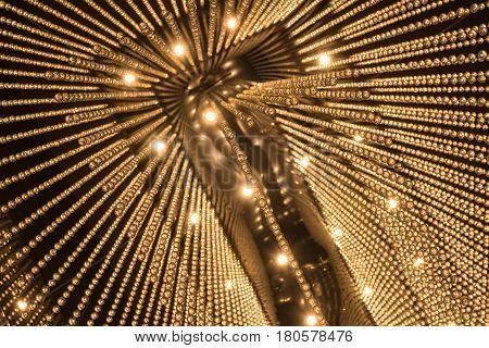 Luxury Chandelier Light Pattern Background.