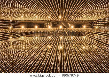 Luxury Chandelier Light Pattern Background