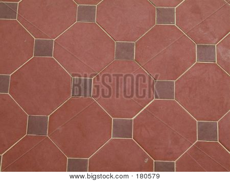 red tile pattern poster