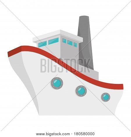ship boat cruise icon vector illustration design