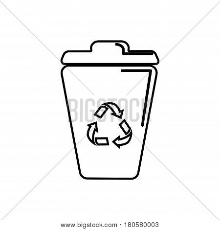 figure can trash with reuse, reduce and recycle symbol, vector illustration design