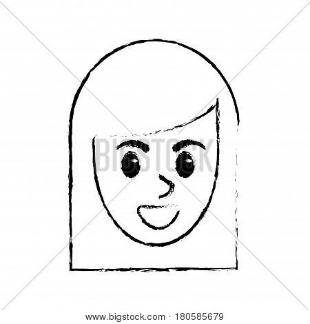 sketchy face woman comic design vector illustration eps 10