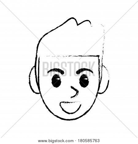 sketchy man head face design image vector illustration eps 10