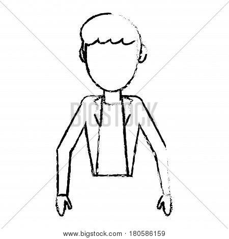 sketchy man male faceless design vector illustration eps 10