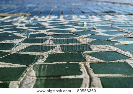 Tile, decorative tile background. The mosaic background. The colored tiles.
