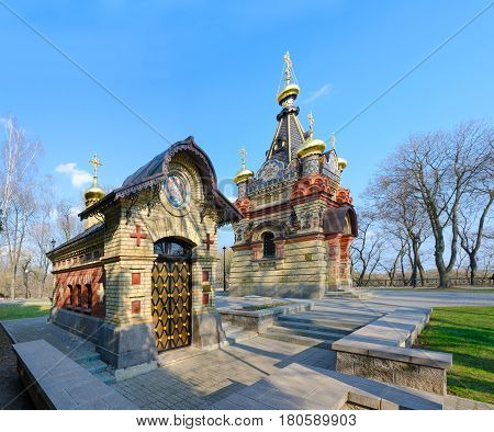 Chapel and burial vault of Princes Paskevich palace and park ensemble Gomel Belarus