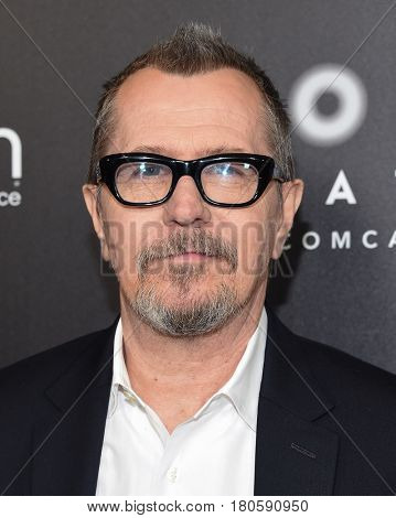 LOS ANGELES - MAR 29:  Gary Oldman arrives for the CinemaCon 2017-Focus Features Luncheon Celebrating 15 Years and A Bright Future on March 29, 2017 in Las Vegas, NV