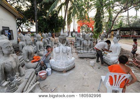 Wat Sainyaphum Temple At Savannakhet, Laos