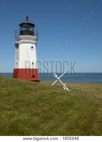 Vermilion Lighthouse On The Lake Erie Shore