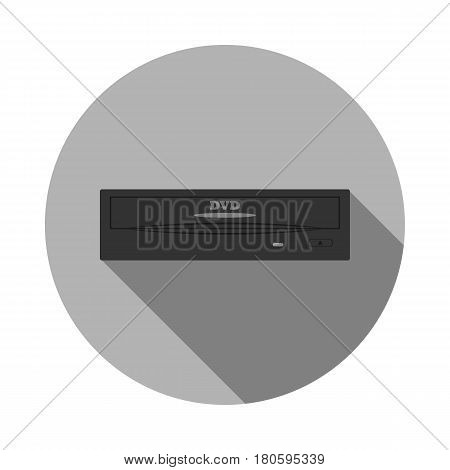 Vector image of dvd drive pattern on a round basis