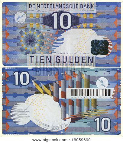 Obsolete 1997 Netherlands 10 Guilder