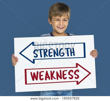 Arrow Opposite Choice Strength Weakness Icon