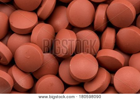 Close Up of Ibuprofen Pills background image