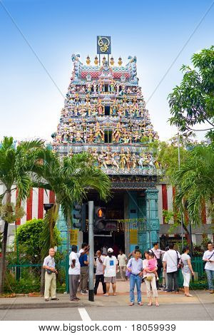 The Sri Veeramakaliamman Temple in Little Indi, Singapore