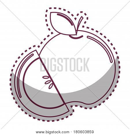 sticker silhouette fruit icon stock, vector illstration design image