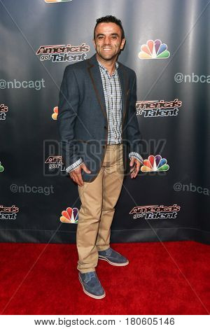 NEW YORK-AUG 12: Lazeyer attends the 'America's Got Talent' Season 10 Results Show at Radio City Music Hall on August 12, 2015 in New York City.