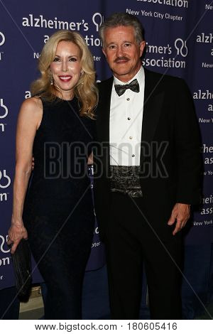 NEW YORK-JUN 8: Kim Campbell (L) and Dr. Max Gomez attend Alzheimer's Association New York City Chapter's 2015