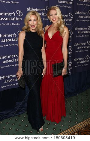 NEW YORK-JUN 8: Kim Campbell (L) and daughter Ashley Campbell attend Alzheimer's Association New York City Chapter's 2015