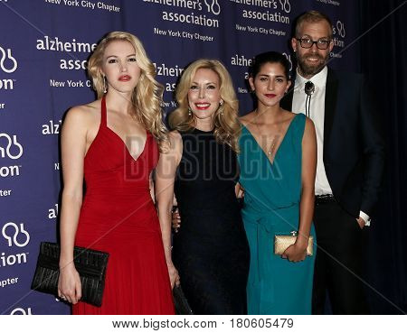 NEW YORK-JUN 8: (L-R) Ashley Campbell, Kim Campbell, Brittany Sturrett and Jesse Olson attend Alzheimer's Association 2015