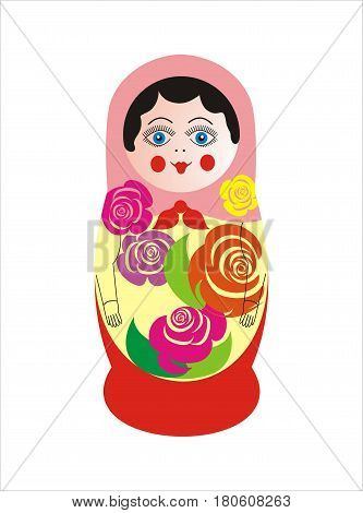 Nested doll vector illustration. Russian national doll
