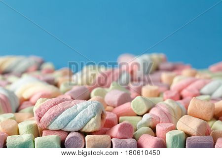 Marshmallows, Colorful Twisted Marshmallows, Closed Up Of Marshmallows, Marshmallows Texture And Pat
