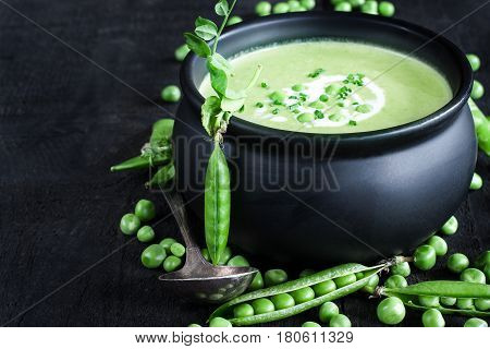 Green Peas Soup Background