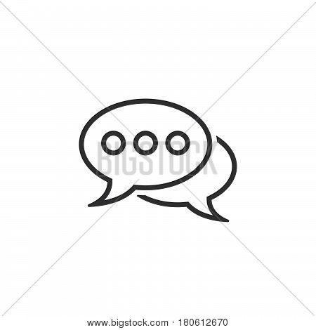 Comments Line Icon, Speech Bubbles Outline Vector Logo Illustration, Linear Pictogram Isolated On Wh