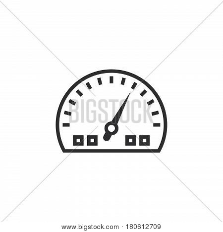 Dashboard Line Icon, Speedometer Gauge Outline Vector Logo Illustration, Linear Pictogram Isolated O