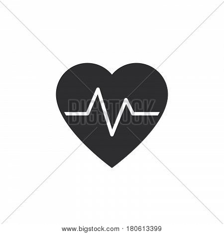 Heartbeat Icon Vector, Heart Rate Solid Logo Illustration, Pictogram Isolated On White