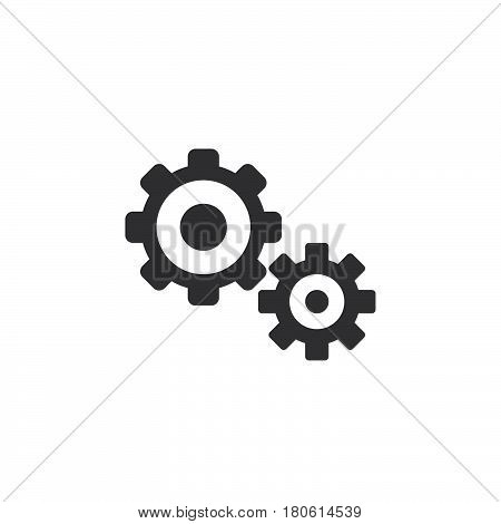 Settings Icon Vector, Gears Solid Logo Illustration, Cog Wheels Pictogram Isolated On White