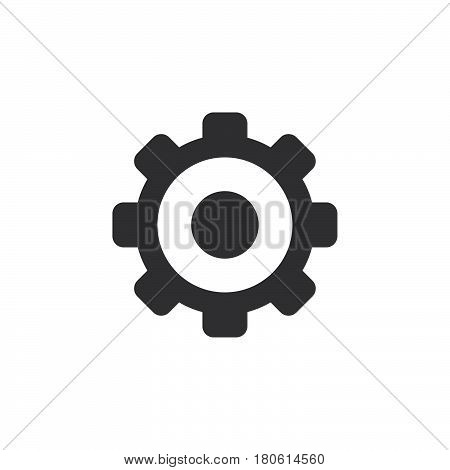 Settings Icon Vector, Gear Solid Logo Illustration, Cog Wheel Pictogram Isolated On White