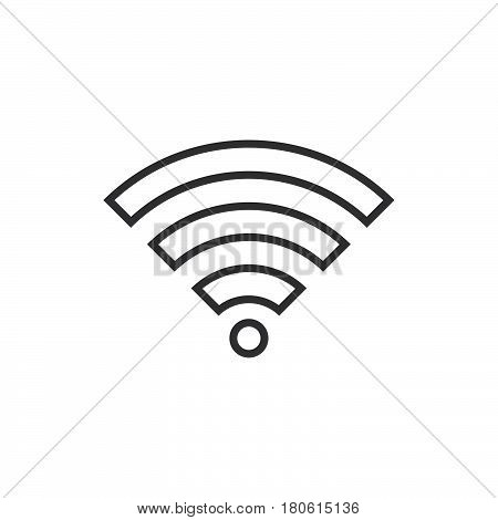 Wifi Signal Line Icon, Wireless Network Outline Vector Logo Illustration, Linear Pictogram Isolated